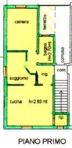 Trilocale 1° piano semicentrale Mordano